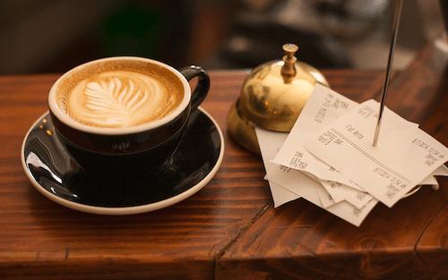 コーヒーと領収書